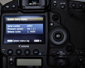 Canon EOS-1D X DSLR 400,000-cycle rating